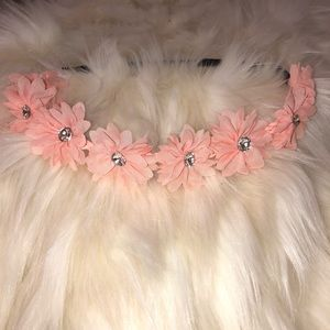 Women's Pink Floral Headband